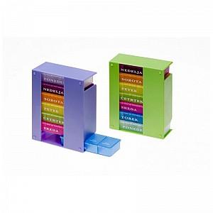 Tedenska škatlica za zdravila - 4 x na dan ELENA