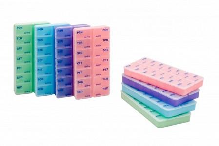 Tedenska škatlica za zdravila - 2 x na dan