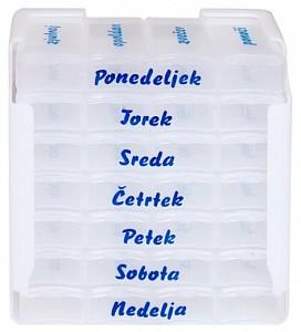 Tedenska škatlica za zdravila - 4 x na dan